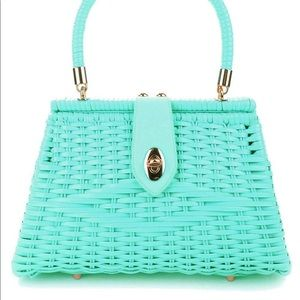 Pinup couture wicker purse
